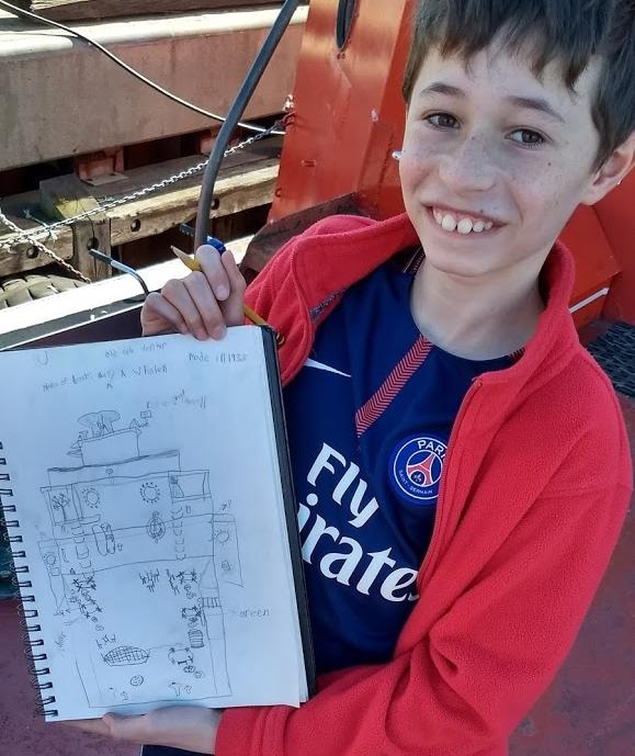 20171020_kid drawing granddad drop off at QM2.jpg