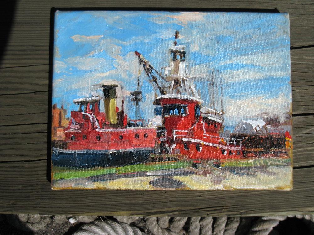 080329-02 Whalen+tug Patrick J Hunt  painting by Dennis Doyle .jpg