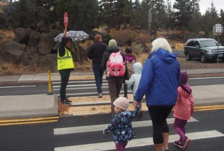International Walk/Bike to School Day event at Juniper Elementary