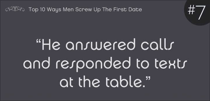 7) Top 10 Ways Men Screw Up The First Date — Relationship