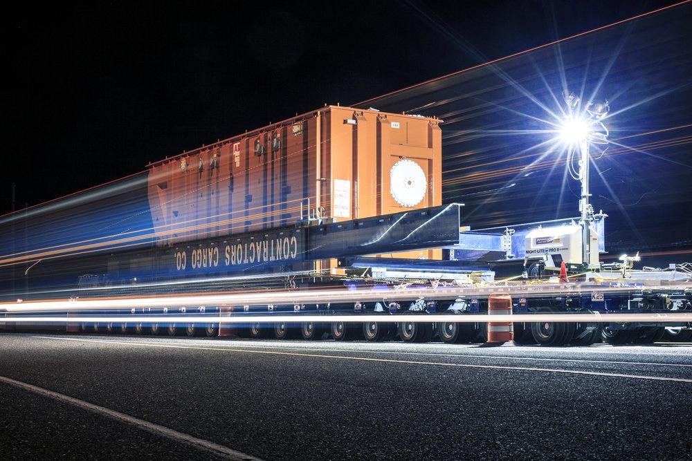 2015-03-19 - 2015-04-10. OREGON / WASHINGTON STATE, USA.Transportation of ABB Transformator, From Vancouver Port to the site at The Dalles, Oregon, Usa.Foto: Gustav M�rtensson / ABB