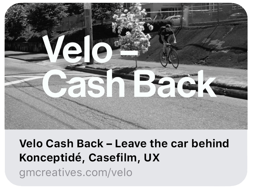 Velo – Cash Back