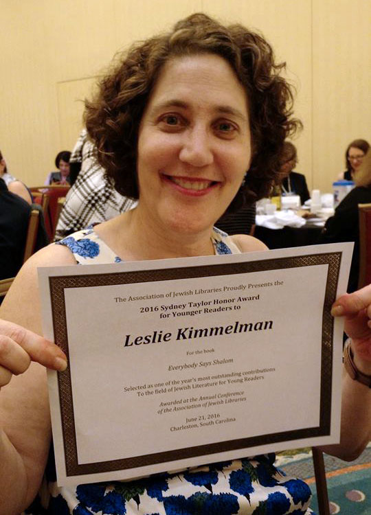 Here's Leslie at the Awards Dinner.  I got a nifty certificate just like this one in the mail.