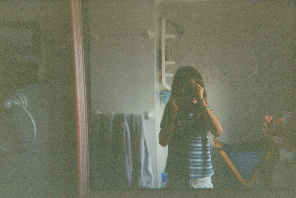 self portrait in childhood home, age 9