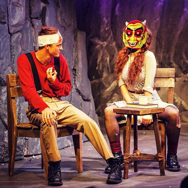 Shot from The Cripple of Inishmaan on press night. Technically there aren't any actual masks in this play, but you'll probably picture me this way all night. Come to The Red Barn tonight at 8 pm and enjoy hating me for 2 hours! 💔 😈
