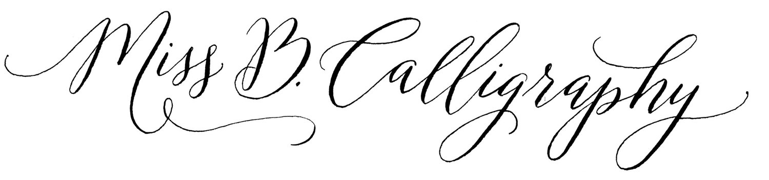 Miss B. Calligraphy