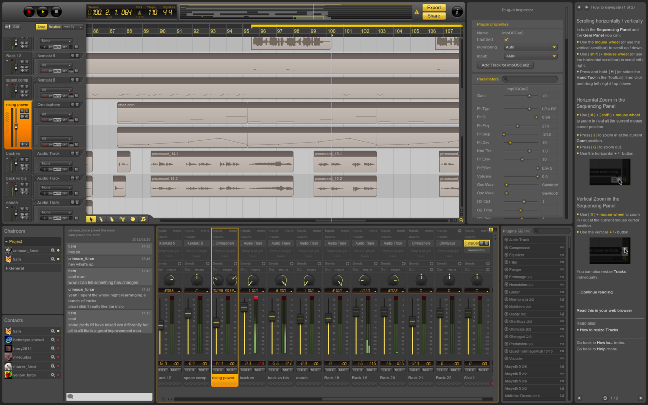 Ohm Force releases Ohm Studio: Real-time collaborative DAW (Beta)     Going to give it a go tonight.