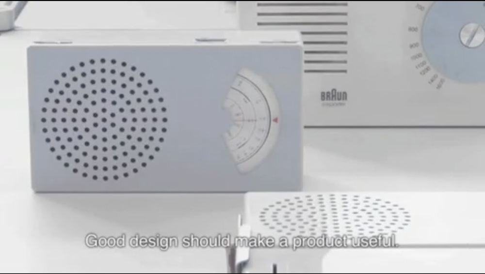 Good design should make a product useful.