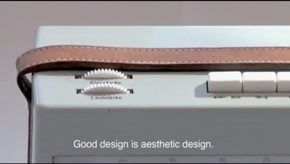 Good design isaestheticdesign.