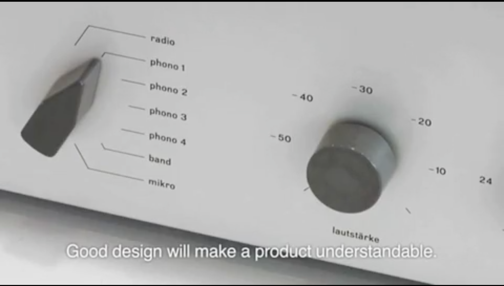 Good design will make a product understandable.