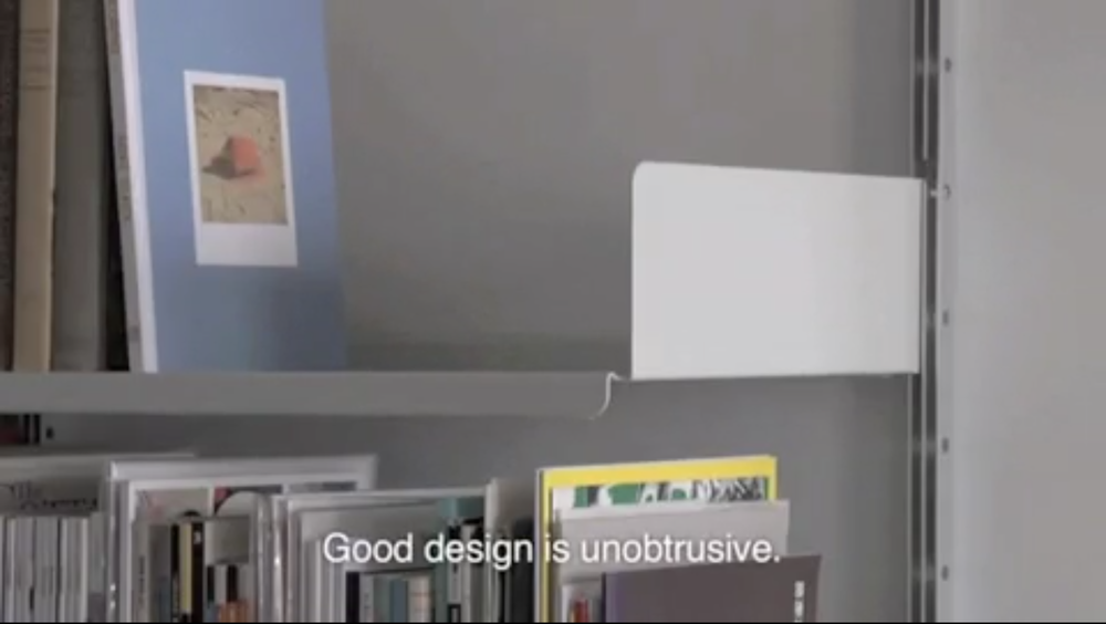 Good design is unobtrusive.