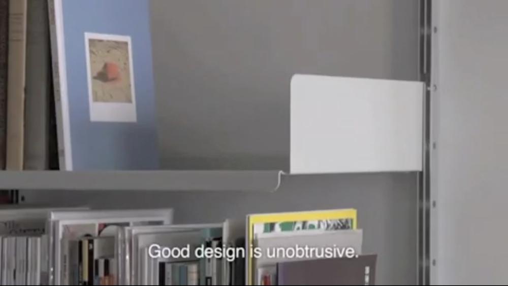 Good design isunobtrusive.