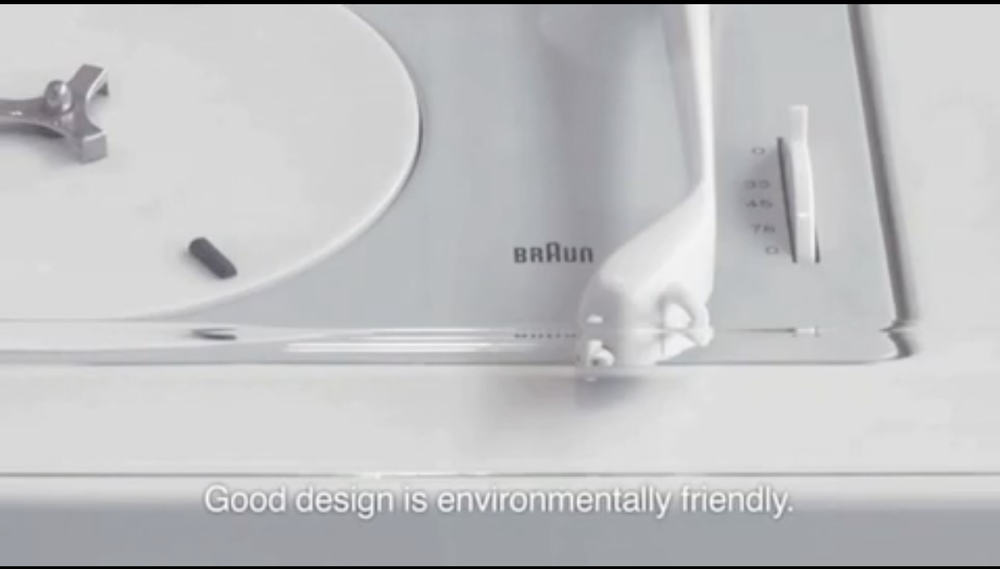 Good design is environmentally friendly.