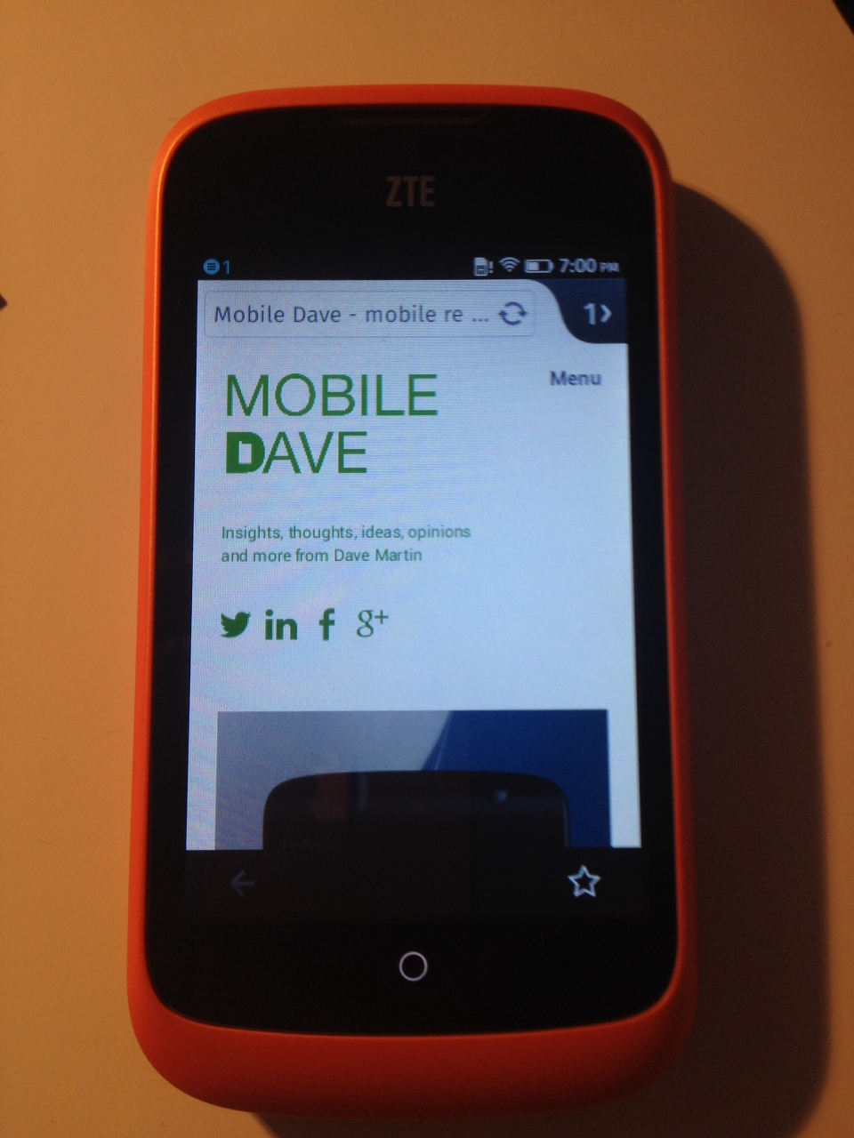 My blog on Firefox OS