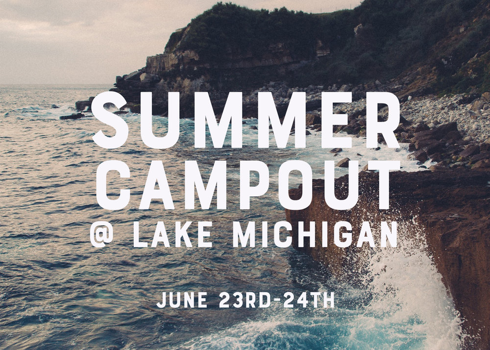 Join our Connect group as we team up with North Park Community Church Youth Group for a couple days of sun and fun at Lake Michigan! Open to all youth 6th through 12th grade!  Price? $15 per student (covers 3 meals).   Here are the things you will need to bring: *Clothes for two days *Bugspray + Sunscreen *Flashlight *toiletries *Snacks to munch on *Your Bible + pen and paper *Swim suit and towel (One piece or tankini) *flipflops + Tennis shoes *Some money for food on the trip back to CofH. *Sleeping bag and pillow     *Students are encouraged to bring snacks for the ride there and back.   *Students must RSVP and turn in money by June 16th! (please RSVP below)  For more information, contact Dan Erwin at dan @cofh.com.