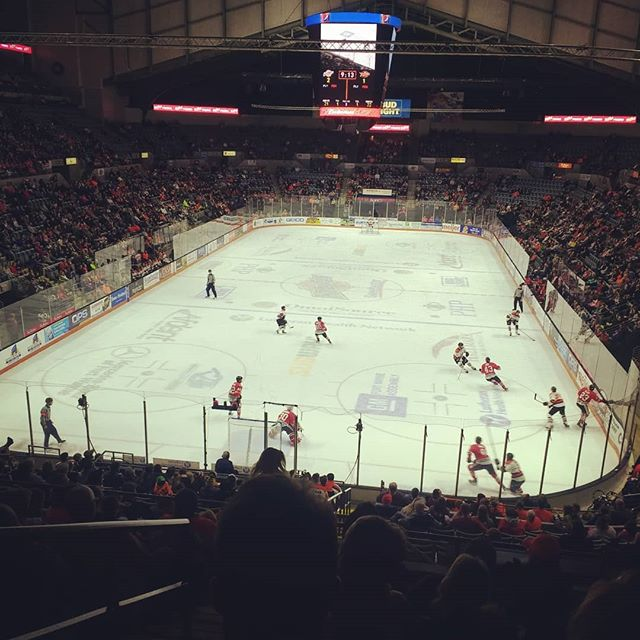 Great time tonight at the Komets hockey game! We are very thankful for the free tickets! 😊