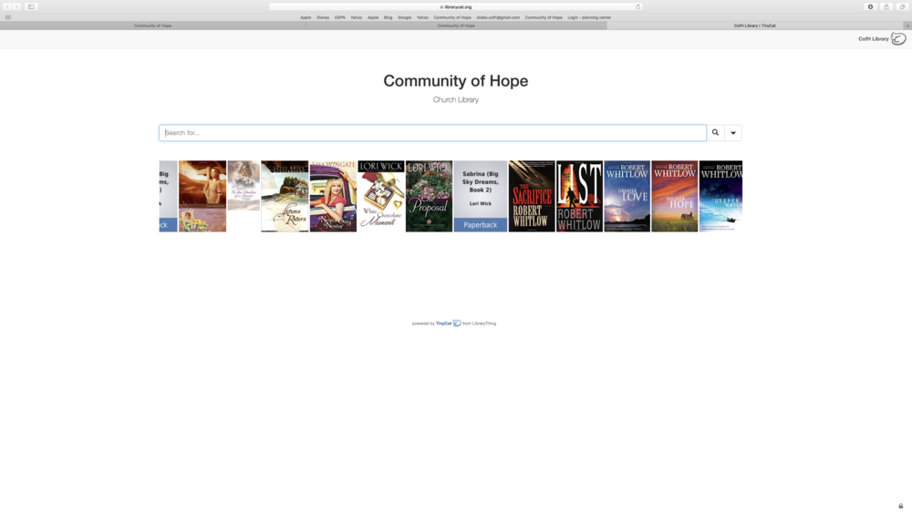 "Enter the book, subject, or genre that you are looking for in the search bar (ex. ""Christian living"")."