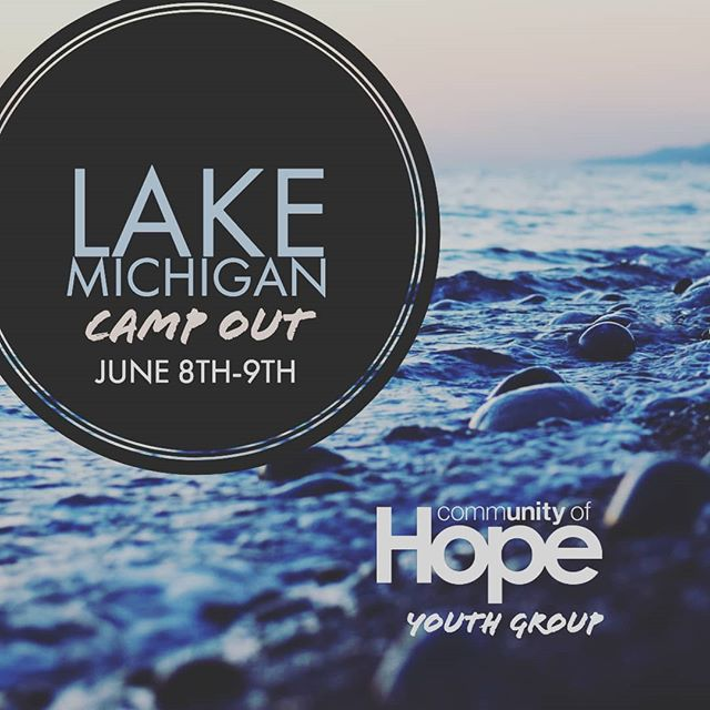 Hey guys! Next week is our Lake Michigan youth campout! It is $20 per student. Any students 6th-12th grade are invited to join us! Are you interested in coming? Let us know!
