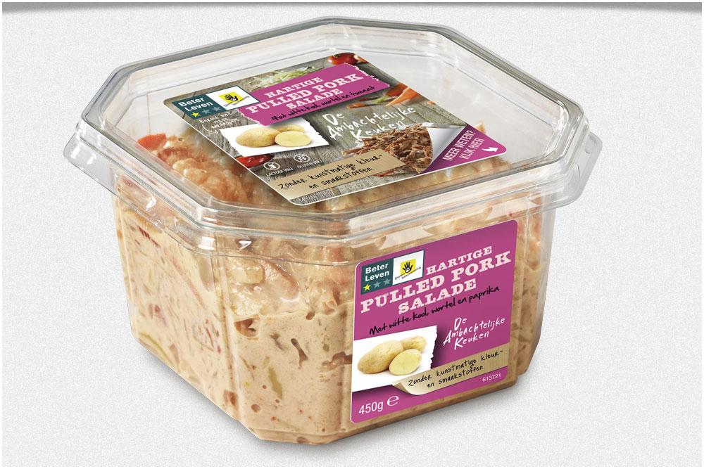 Packaging concept De Ambachtelijke Keuken -salade assortiment