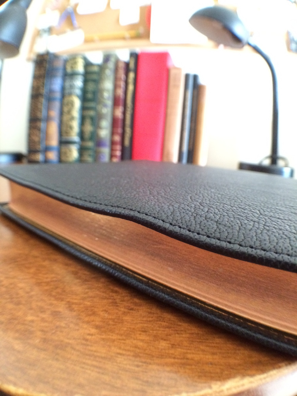 Goatskin leather is very soft (in my case almost  wavy ) this highlights the leather's authenticity and softness.