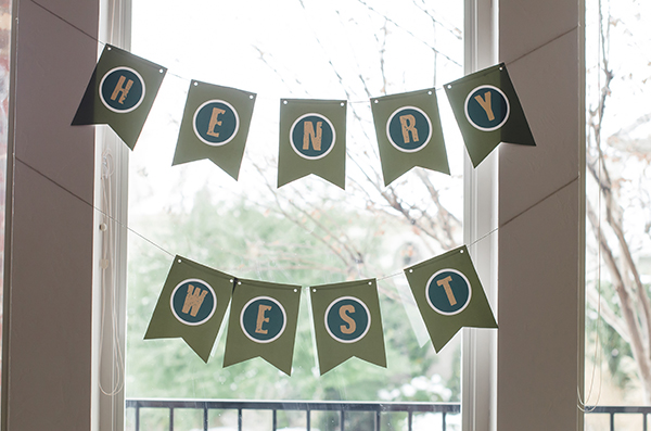 one of my favorite things to design for this party was all of the bunting signs! we had 4 different sets around the house!