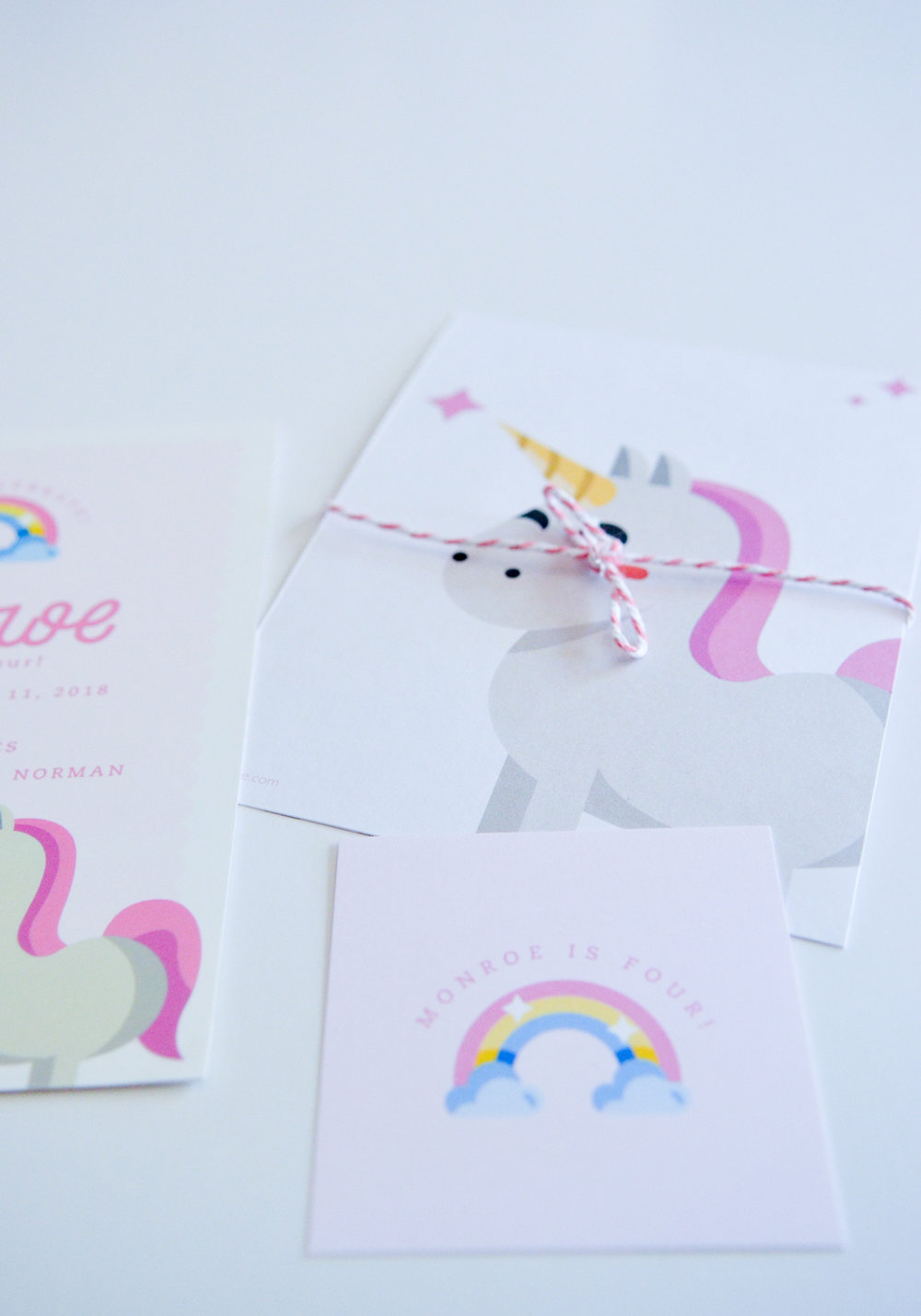 A Unicorn 4th Birthday Party Invitation Cari Marie
