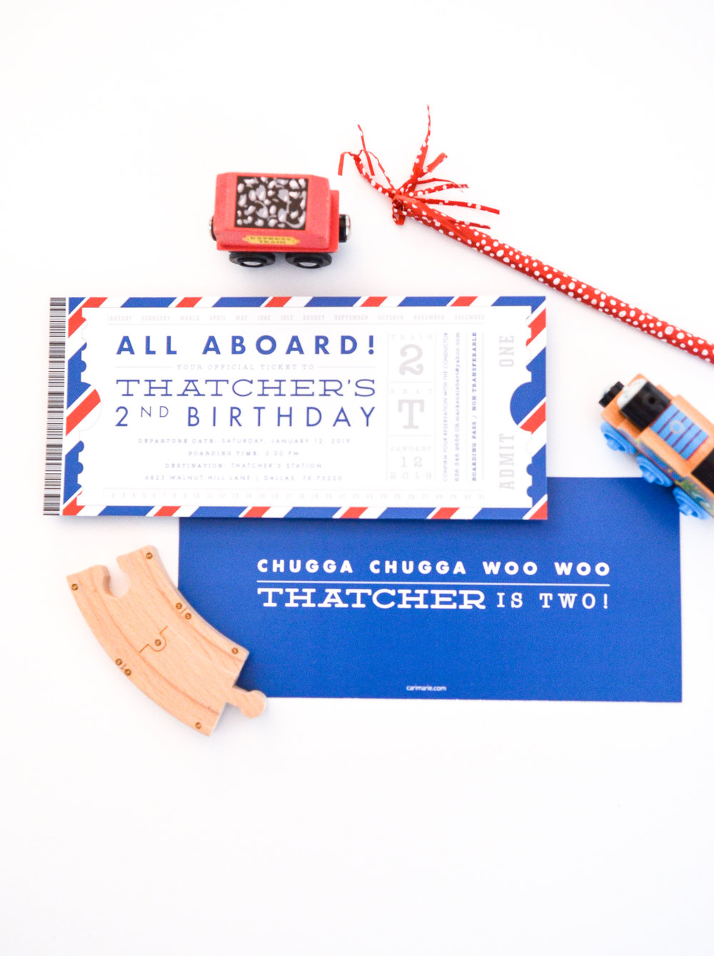 All Aboard For A Choo Train Birthday Party 2 Year Old This Fun Invite Was Designed To Look Like Ticket And Featured Sayings About
