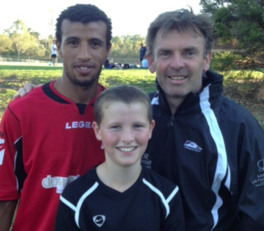 Jack Rayner with  Director of Coaching: Rick Wilson Goal Keeping Coach: Abdelhadi