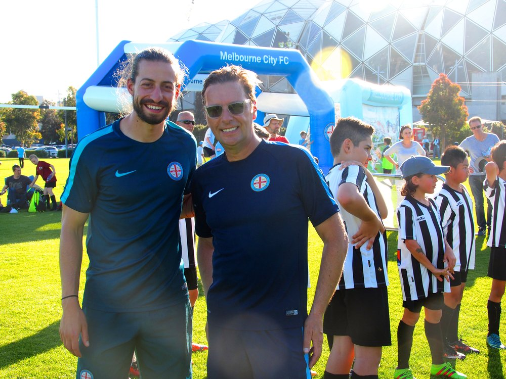 Melbourne City FC junior coaches Adam and Oliver