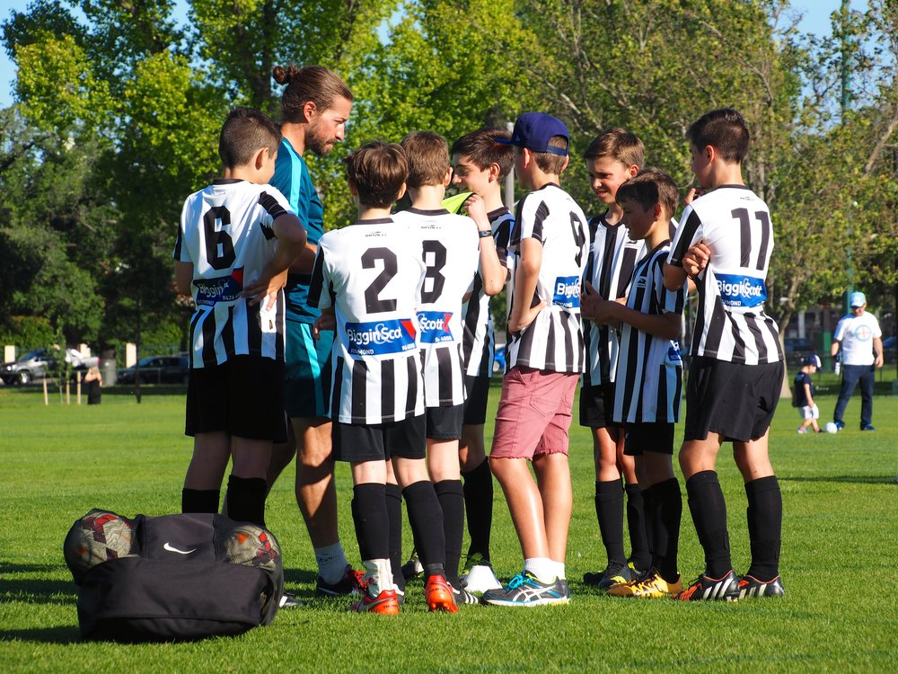 Collingwood kids take part in a Melbourne City training session