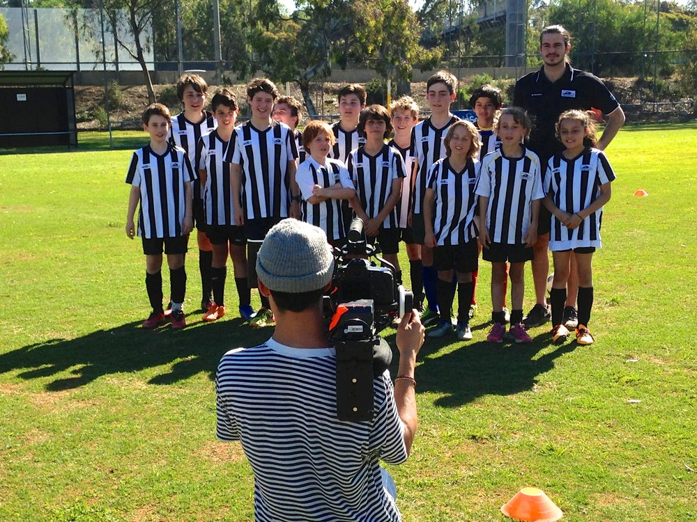 Foxtel Sports came to Kevin Bartlett Reserve to film a 'Goals for Grassroots' story at our club.