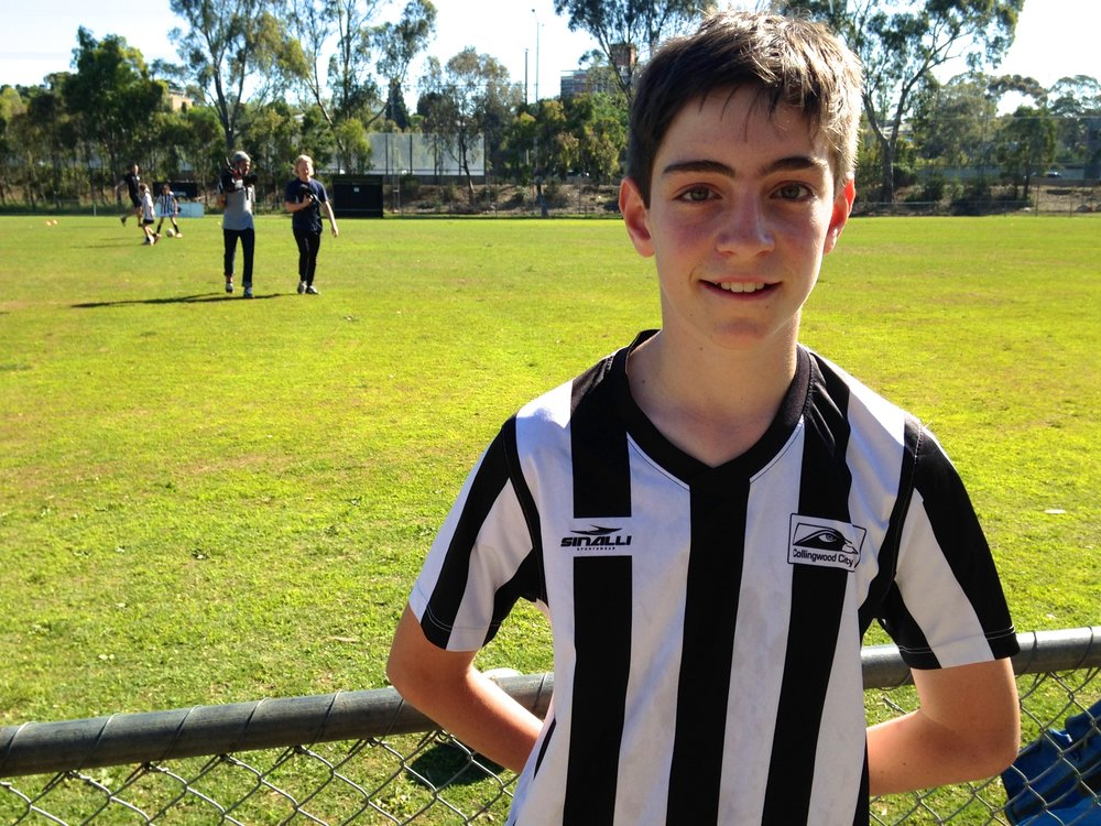 Under 12s player, Josh featured in the Round 9 'Goal for Grassroots' story.