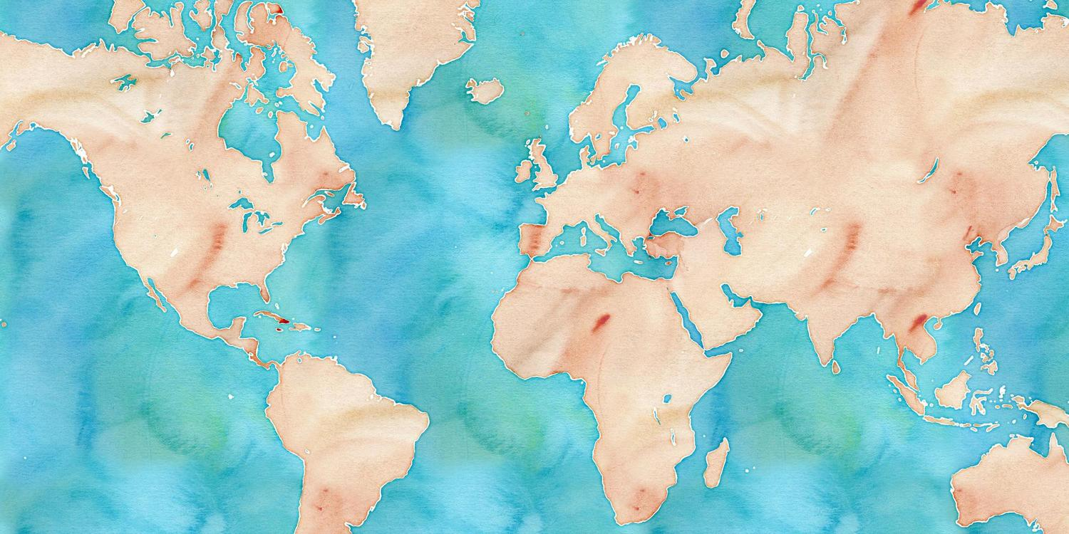 A World Map In Watercolor From Stamen