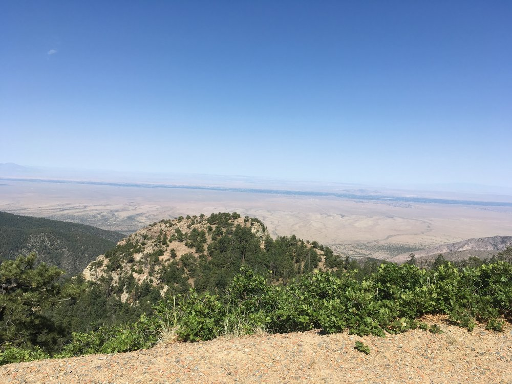 Amazing landscape and views from Capilla Peak, part of the Manzano Mountains southeast of Albuquerque.
