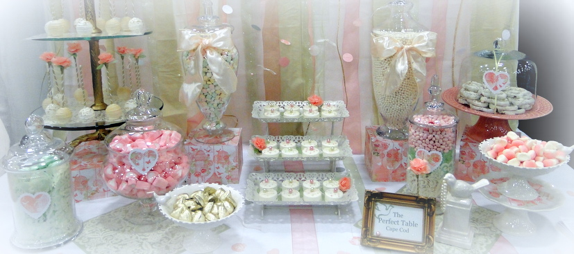 Candy dessert tables the perfect table cape cod for Table 52 dessert