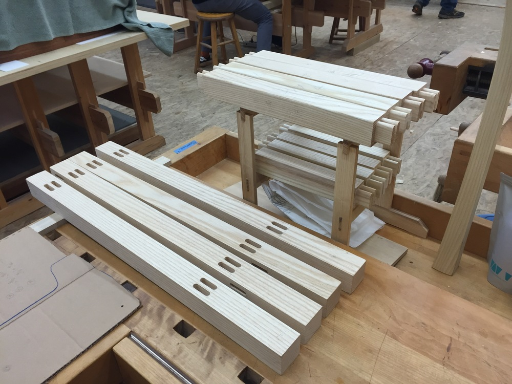Twin mortise and tenons