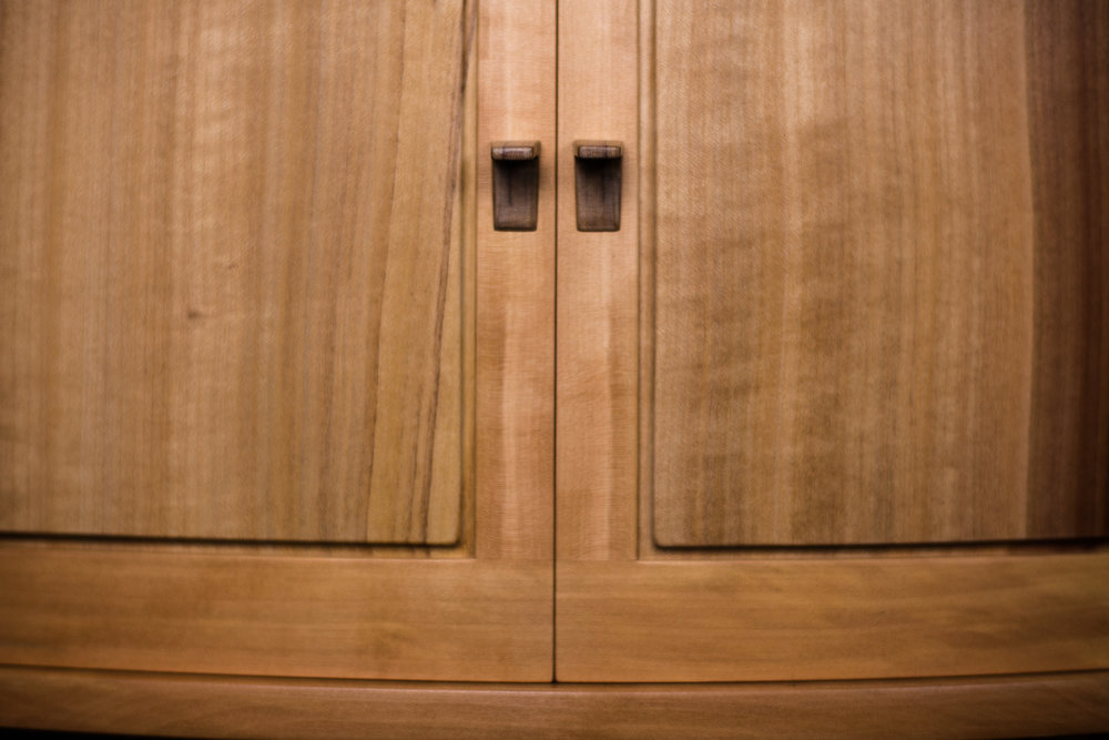 Door and pull detail of Composing Cabinet by  Jessie Lafleur  Photography by Tim Andries