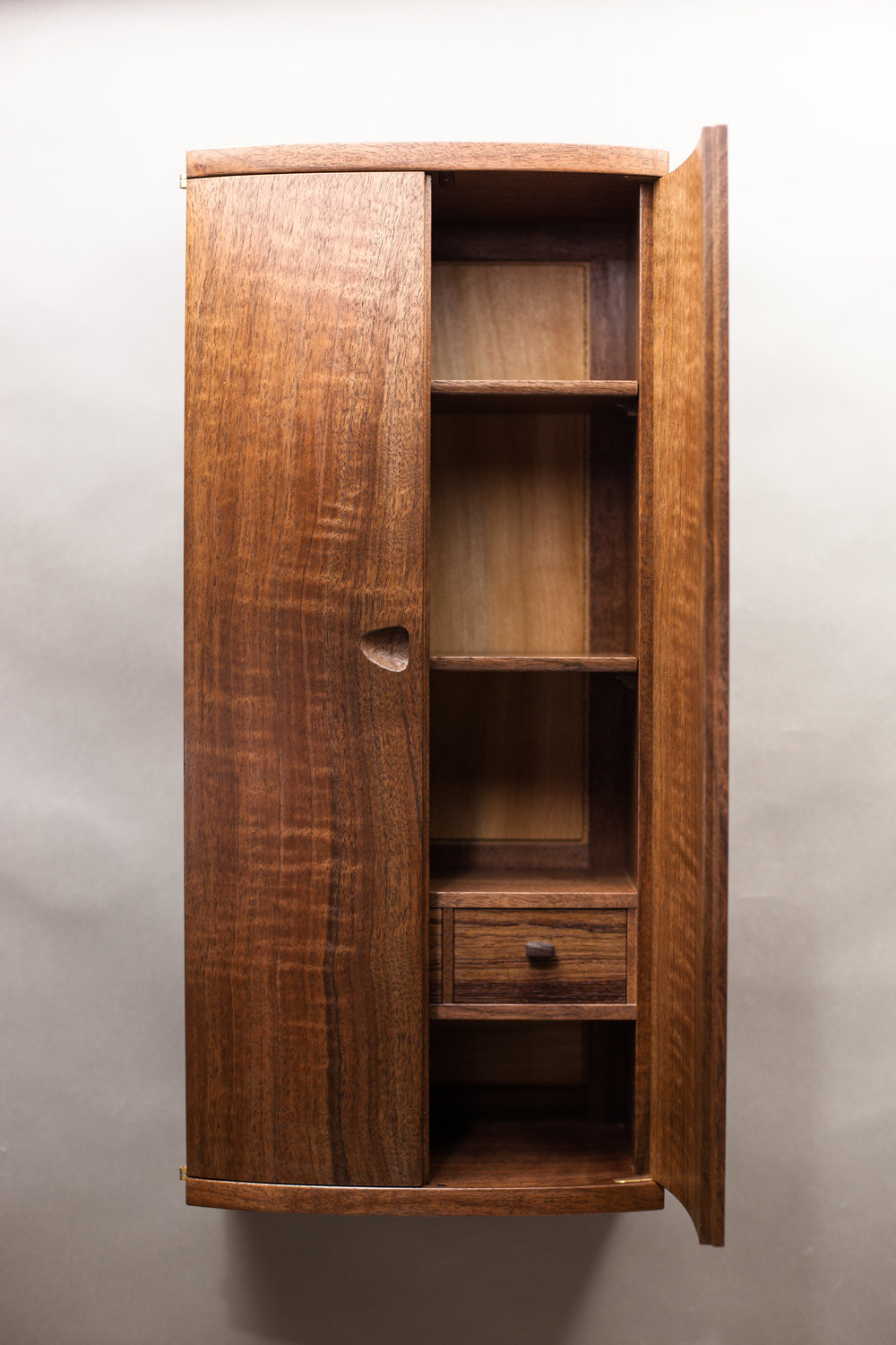Interior of Upward Spiral Cabinet by  Tim Andries   Photography by Tim Andries