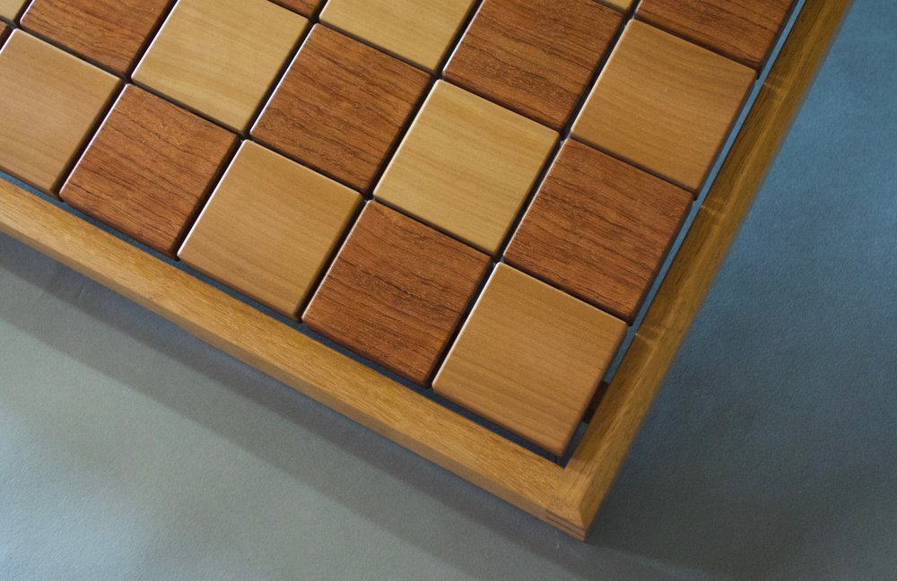 playing surface of Upward Spiral Chessboard by Sam Gapic