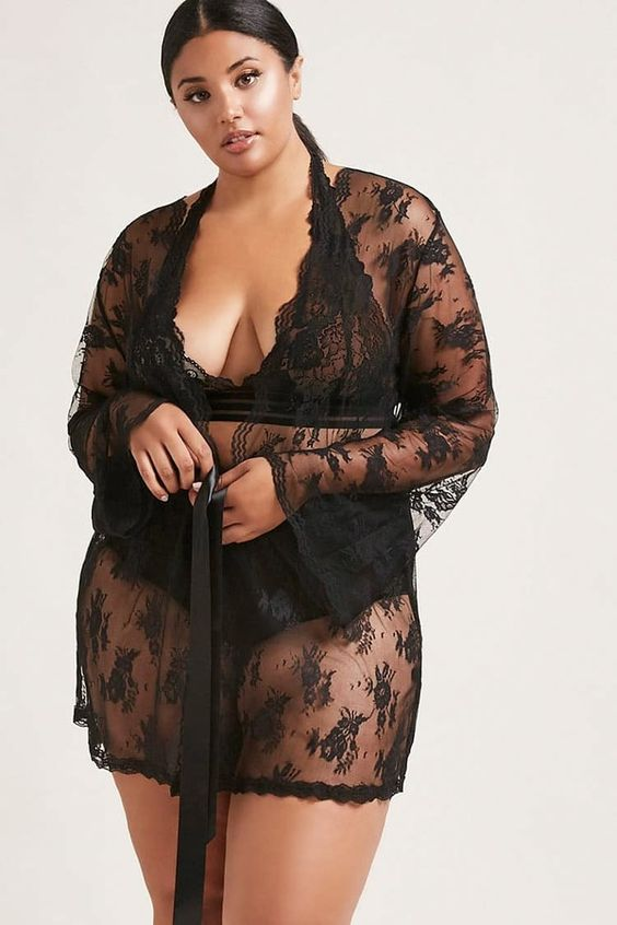 Lace robe by Forever 21