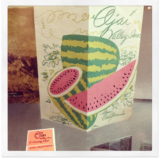 Vintage Ojai materials on Cheeky Design