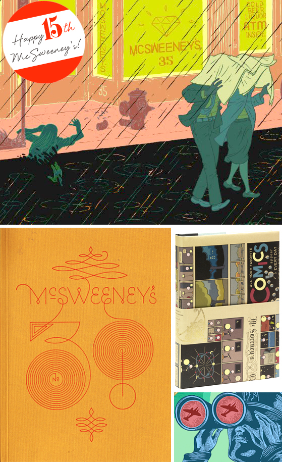 Happy 15th McSweeneys on Cheeky Design