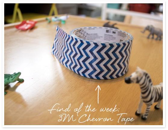 Chevron Tape DIY on Cheeky Design