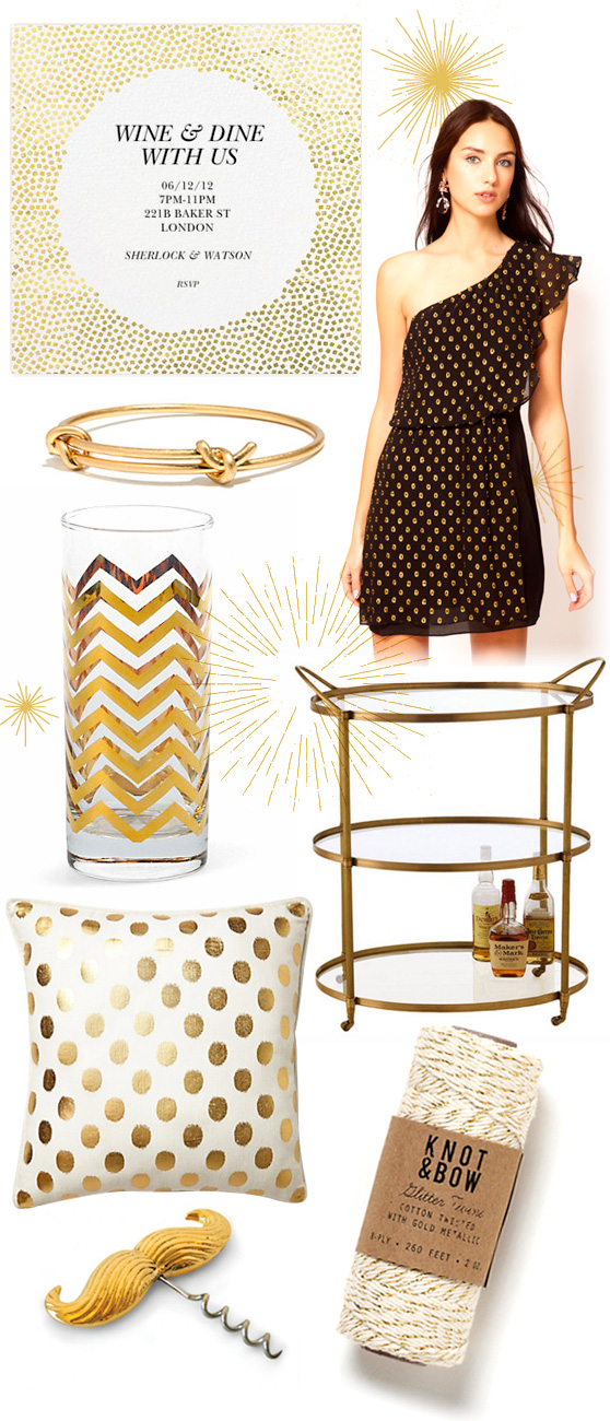 Gold Moodboard on Cheeky Design