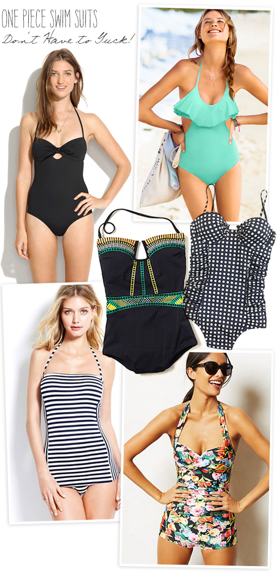 One Piece Swim Suits on Cheeky Design