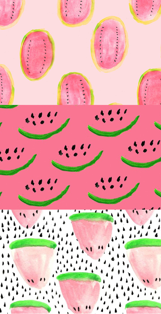 Kendra Dandy patterns on Cheeky Design