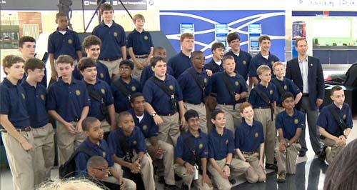 The 2010 Touring Choir at the Atrium in Hartsfield-Jackson International Airport in Atlanta.