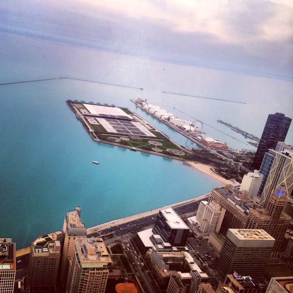 The view from way up top - 360 Chicago.
