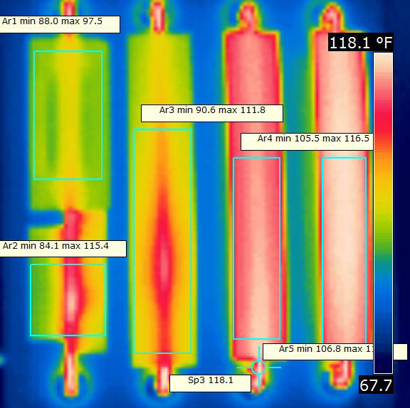 Comparative Infra Red Study Of Heat Transfer Plates
