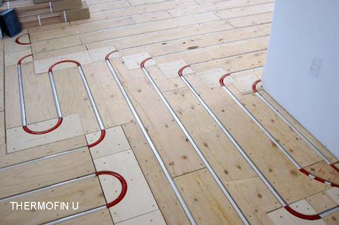 ThermoFin U radiant heated floors